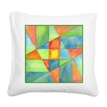 Color Square Abstract One Square Canvas Pillow