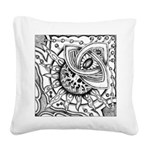 Cosmic Thing Illustration Square Canvas Pillow