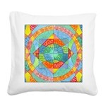 Sacred Geometry Watercolor Square Canvas Pillow