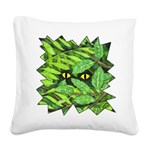 Through the Leaves Watercolor Square Canvas Pillow