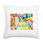 Creation Myth Watercolor Square Canvas Pillow