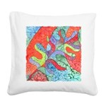 Multicolor Oak Leaf Art Square Canvas Pillow
