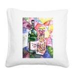 Wine and Candy Square Canvas Pillow