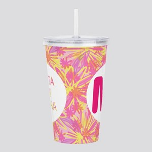 Theta Phi Alpha Pink Acrylic Double-Wall Tumbler