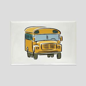 Bus Rectangle Magnet