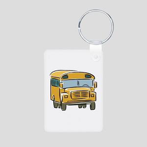 Bus Aluminum Photo Keychain