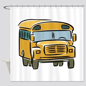 Bus Shower Curtain