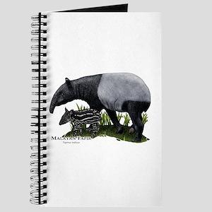 Malayan Tapir and Young Journal