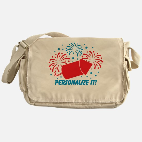 PERSONALIZED Cute Fireworks Messenger Bag