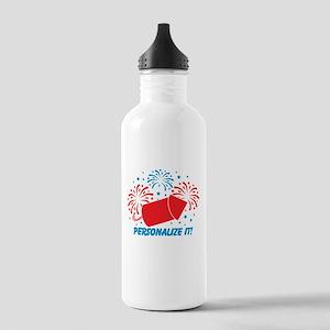 PERSONALIZED Cute Fireworks Water Bottle