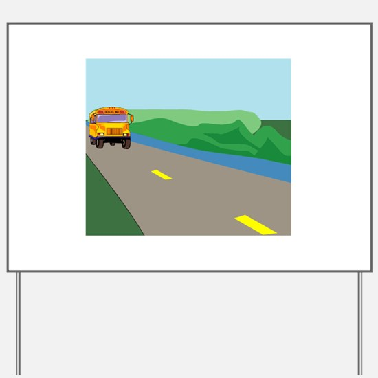 Bus Yard Sign