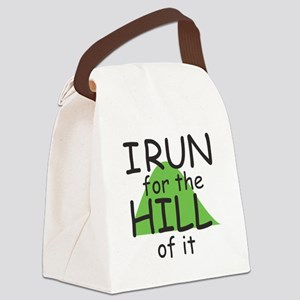 Funny Hill Running Canvas Lunch Bag