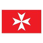 White Maltese Cross Sticker