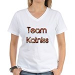 Team Katniss ( flame) Women's V-Neck T-Shirt