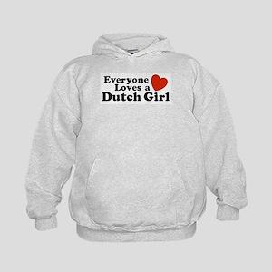 Everyone Loves a Dutch Girl Kids Hoodie