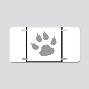 furry canine Aluminum License Plate