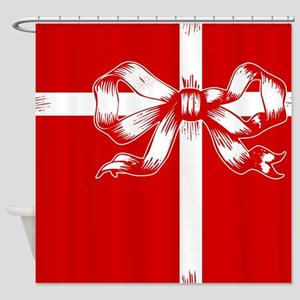 Red Ribbon Gift Shower Curtain