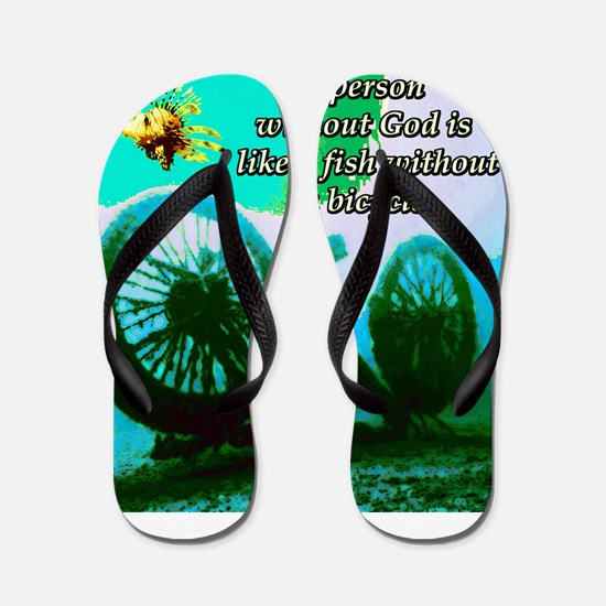 Without God Flip Flops