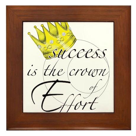 Crown of Effort Framed Tile