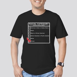 Human Race (Black Shirt) Men's Fitted T-Shirt (dar