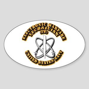 Navy - Rate - EW Sticker (Oval)