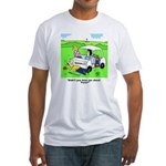 'Fore' Golf cartoon Fitted T-Shirt