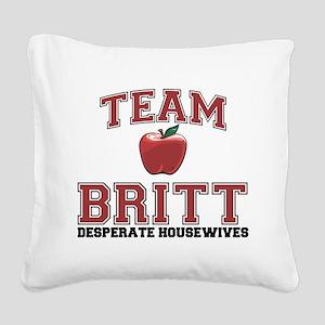 Team Britt Square Canvas Pillow