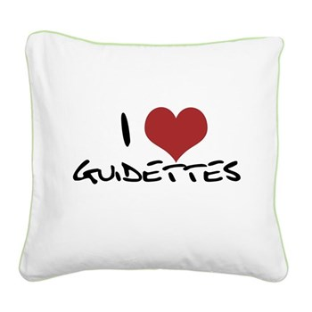I Heart Guidettes Square Canvas Pillow