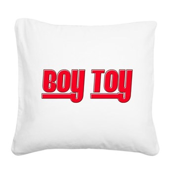 Boy Toy - Red Square Canvas Pillow