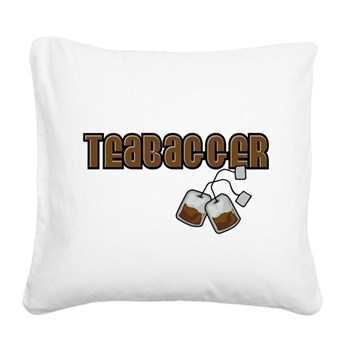 Teabagger Square Canvas Pillow