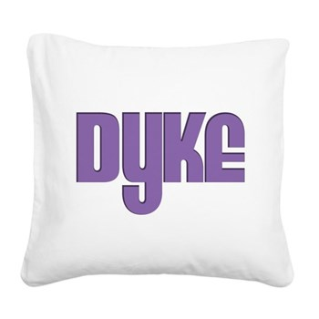 Purple Dyke Square Canvas Pillow