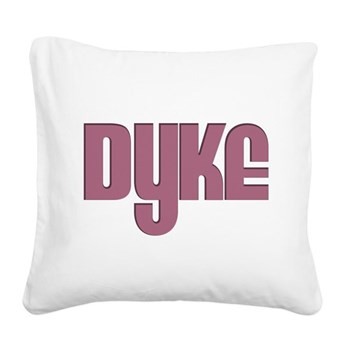Pink Dyke Square Canvas Pillow