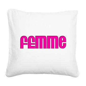 Femme Square Canvas Pillow