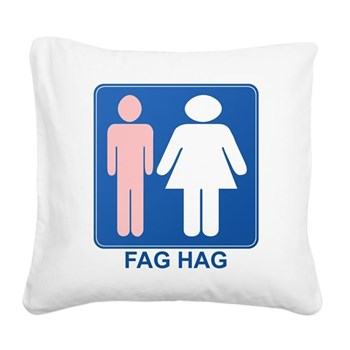 FAG HAG Sign Square Canvas Pillow