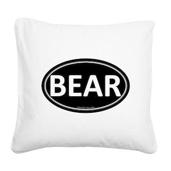 BEAR Black Euro Oval Square Canvas Pillow