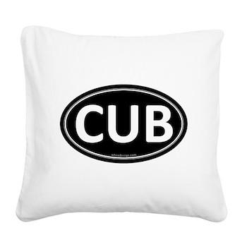 CUB Black Euro Oval Square Canvas Pillow