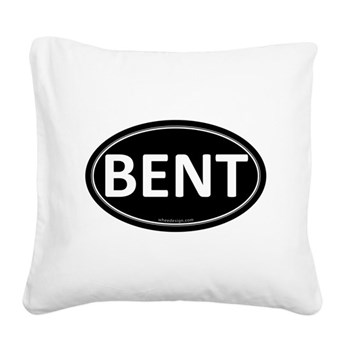 BENT Black Euro Oval Square Canvas Pillow