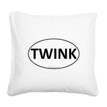 TWINK Euro Oval Square Canvas Pillow