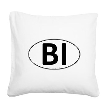 BI Euro Oval Square Canvas Pillow