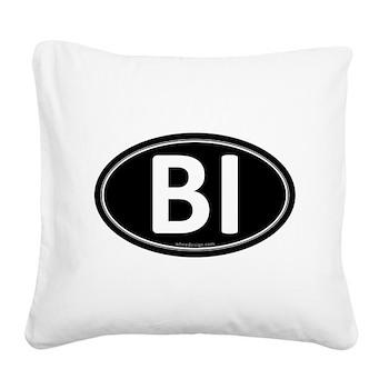 BI Black Euro Oval Square Canvas Pillow