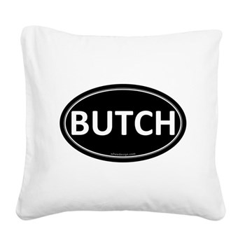 BUTCH Black Euro Oval Square Canvas Pillow
