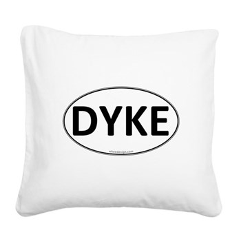 DYKE Euro Oval Square Canvas Pillow