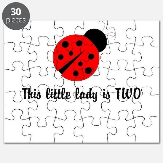 Second Birthday Ladybug Puzzle