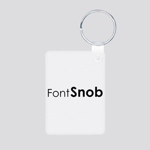 Font Snob Aluminum Photo Keychain