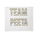 Team Peeta (White Gold) Throw Blanket