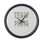 Team Peeta (White Gold) Large Wall Clock