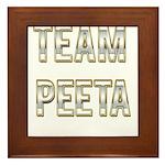 Team Peeta (White Gold) Framed Tile