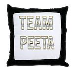Team Peeta (White Gold) Throw Pillow