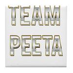 Team Peeta (White Gold) Tile Coaster