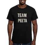 Team Peeta (White Gold) Men's Fitted T-Shirt (dark